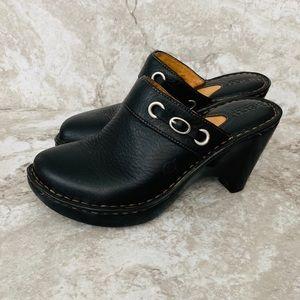 BORN black Wedge Clog like new